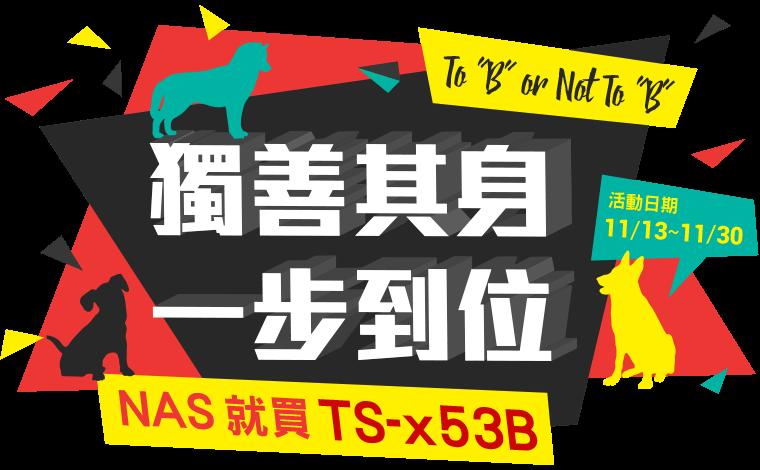 QNAP - 獨善其身 一步到位! 雙11就買TS-x53B