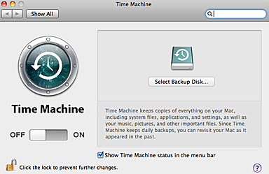 time machine support