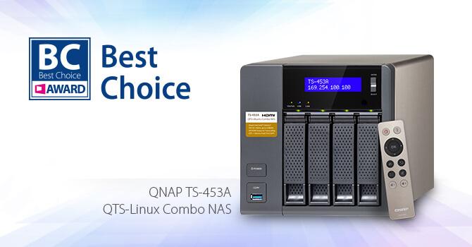 QNAP NAS TS-453A Wins COMPUTEX Best Choice Award 2016