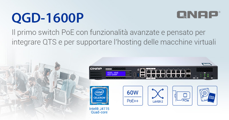 QNAP presenta il QGD-1600P