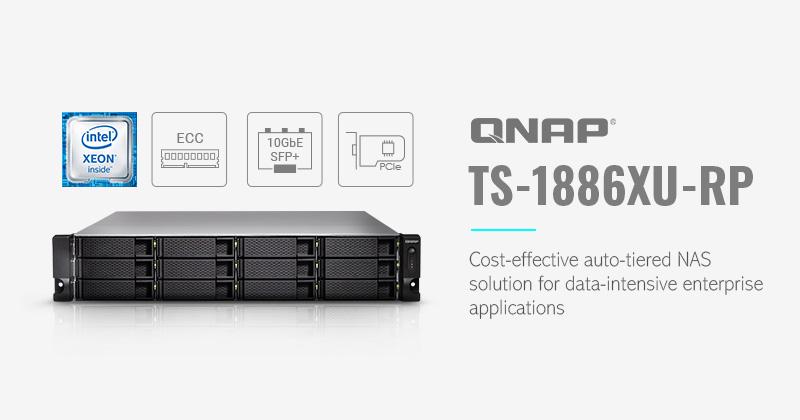 QNAP  TS-1886XU-RP: la soluzione NAS con tiering automatico