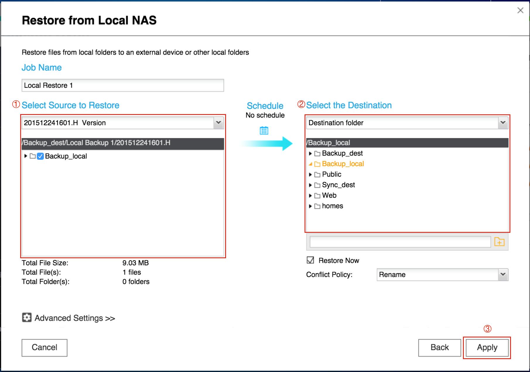 [Hướng dẫn]Sử dụng QNAP Hybrid Sync Backup để sao lưu / khôi phục / đồng bộ hóa dữ liệu - 172885