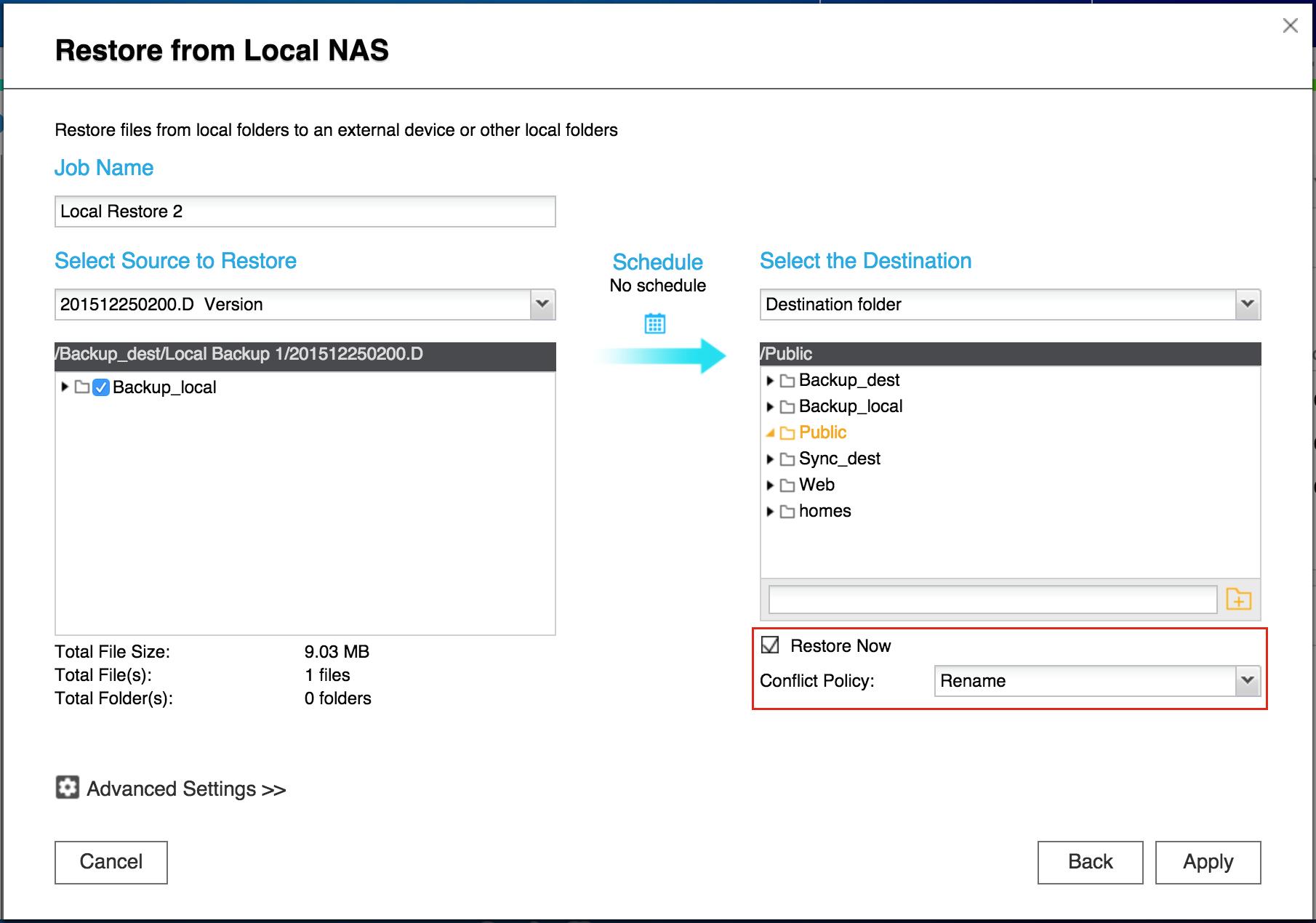 [Hướng dẫn]Sử dụng QNAP Hybrid Sync Backup để sao lưu / khôi phục / đồng bộ hóa dữ liệu - 172887