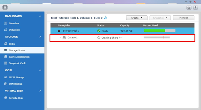 How to re build multiple volumes to use snapshots after for Show pool status pgpool
