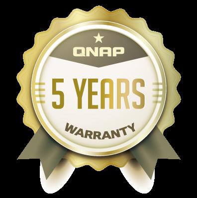 QNAP NAS 5 year warranty
