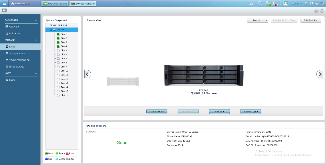 QNAP NAS Intelligent Storage Manager