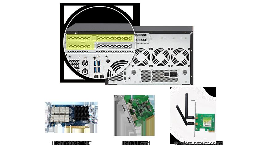 QNAP NAS PCIe slot