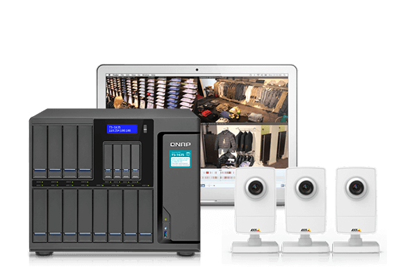 QNAP NAS Reliable high-capacity IP cam