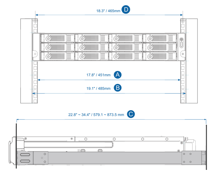 TS-EC880U-E3-4GE-R2-US - 8-Bay 10GbE iSCSI NAS, 2U, SATA 6G