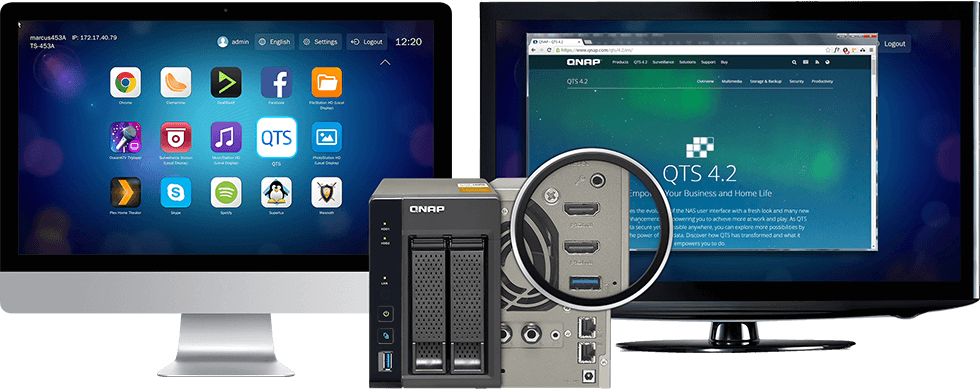QNAP QTS Linux Combo NAS a well rounded private cloud solution centralizing  storage and IoT appli