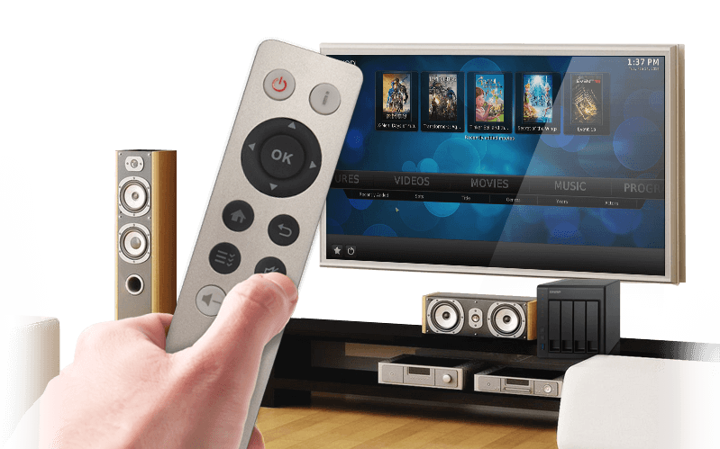 QNAP NAS Enjoy videos on TV via HDMI