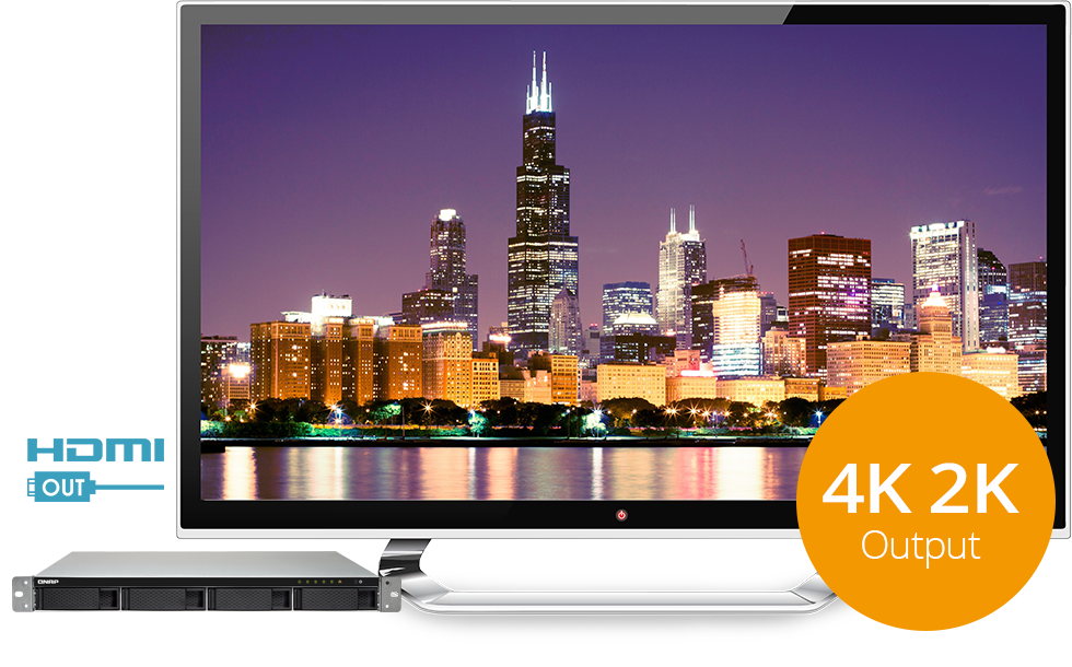 QNAP NAS 4K HDMI output