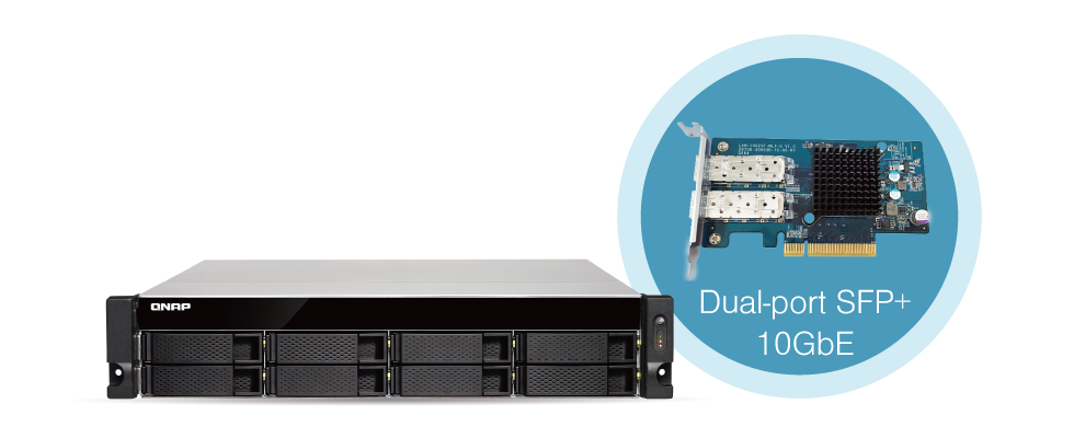 QNAP NAS Built-in 10GbE connectivity