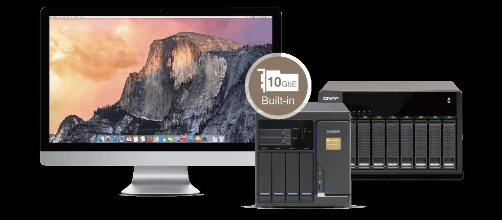 QNAP NAS High accessibility (Mac+JBOD)