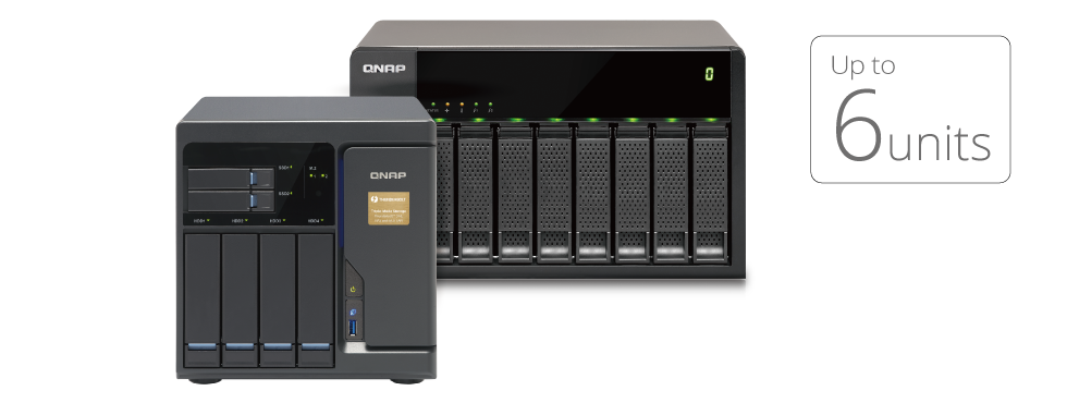 QNAP NAS Seamless expansion