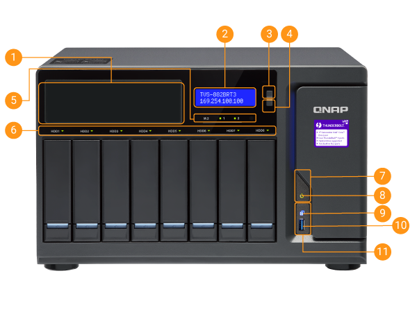 QNAP NAS TVS-882BRT3 Hardware Spec