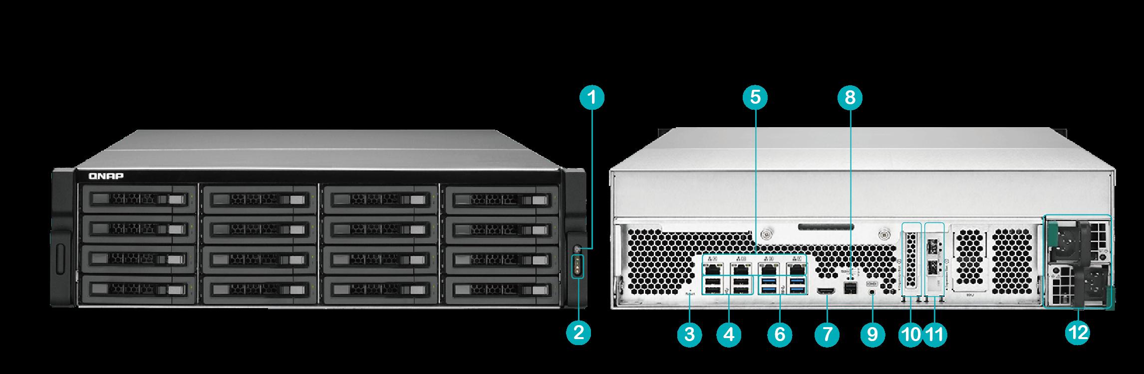 QNAP NAS TVS-EC1680MU-SAS-RP R2