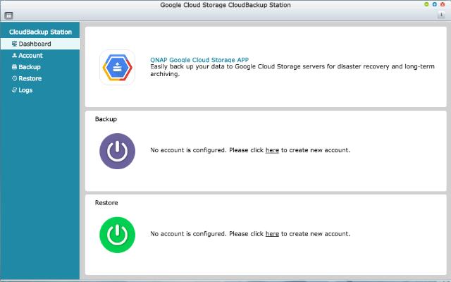 how to create a qnap google cloud storage